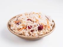 德国泡菜用被隔绝的蔓越桔和红萝卜 库存照片
