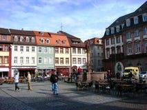 德国海得尔堡一个正方形 免版税库存图片
