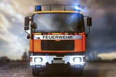 德国消防车组成 免版税库存照片