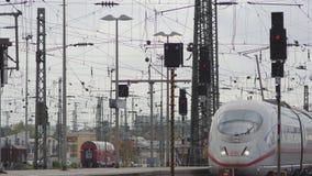 德国火车到达 股票视频
