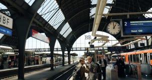 德国火车站卡尔斯鲁厄,德国 股票视频
