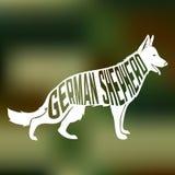 德国牧羊犬品种狗创造性的设计  皇族释放例证