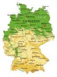 德国物理地图 免版税库存图片