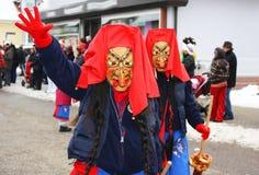 从德国狂欢节小组Backoefelehexen的巫婆 库存图片