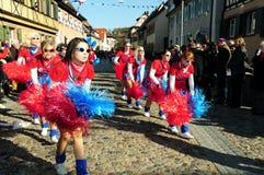 德国狂欢节队伍 库存图片