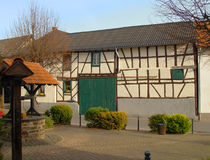 德国用木材建造的房子可爱 免版税库存图片