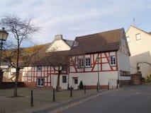 德国用木材建造的房子可爱 库存图片