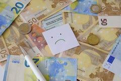德国申报纳税和笔的一个空白表格 库存图片