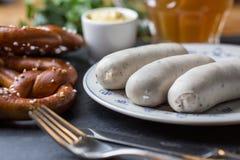 德国白色香肠 免版税库存图片