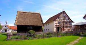 德国的兹瓦本地方农厂博物馆, Illerbeuren,上部施瓦本行政区,德国 股票视频