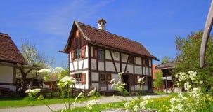 德国的兹瓦本地方农厂博物馆, Illerbeuren,上部施瓦本行政区,德国 股票录像