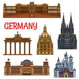德国的历史建筑和sightseeings 皇族释放例证