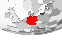 德国的地图灰色政治地球的 向量例证