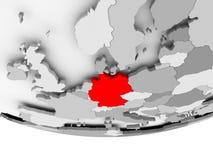 德国的地图灰色政治地球的 库存例证