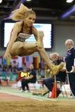 德国的妇女跳远运动员亚历山德拉韦斯特 库存照片