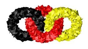 敲响德国的旗子 向量例证
