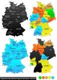 德国的政治地图 免版税库存图片