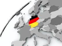 德国的旗子灰色地球的 库存例证