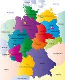 德国的映射 向量例证