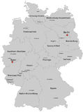 德国的映射 库存例证
