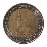 2从德国的欧元硬币 库存照片