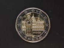 2从德国的欧元硬币 库存图片