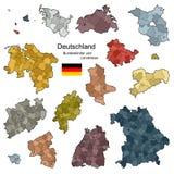 德国的省和区 库存照片