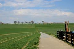 德国的空旷地区边 免版税库存照片