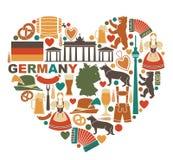德国的象心脏形状的 皇族释放例证