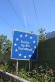 德国的边界标志在中欧 免版税库存图片