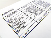 德国编号书写红色统计数据 免版税库存图片