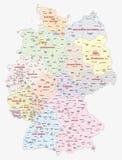 德国联邦竞选的顾客的地图, 2017年 向量例证