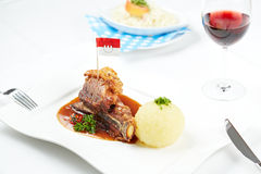 德国脆皮猪肉 库存图片