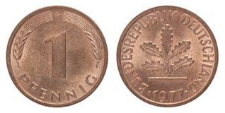 德国芬尼硬币 免版税库存图片