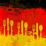 德国菜单模板 免版税库存图片