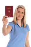德国藏品护照妇女年轻人 免版税库存图片