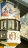 德国被绘的房子oberamergau 免版税库存照片