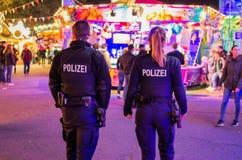 德国警察 免版税库存图片