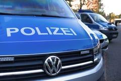 德国警车在多特蒙德德国 图库摄影