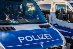 德国警车 库存照片
