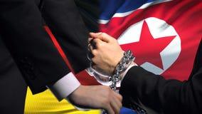 德国认可北朝鲜,被束缚的胳膊,政治或者经济冲突 影视素材