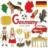 德国象的汇集 库存例证