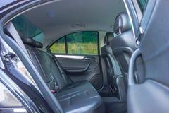 德国豪华大型高级轿车内部-轿车,皮革位子 库存图片