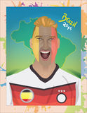 德国足球迷呼喊 免版税库存图片