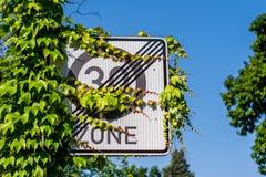 德国路标30区域-限速 免版税图库摄影