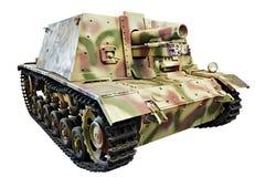 德国重的攻击枪StuIG 33B隔绝了白色 库存图片