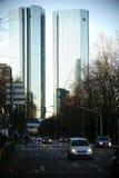 德国银行摩天大楼法兰克福 免版税库存照片