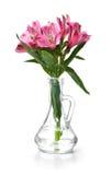 德国锥脚形酒杯粉红色 免版税库存图片