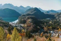 德国镇在秋天 免版税库存照片