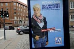 德国阿尔迪链子食品批发市场 库存照片